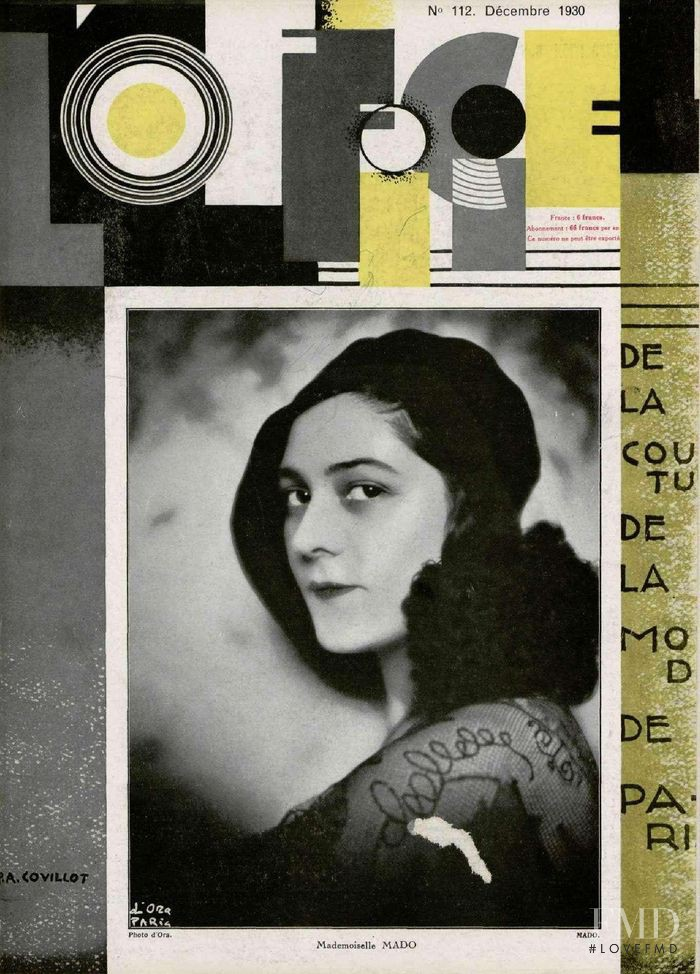 featured on the L\'Officiel France cover from December 1930