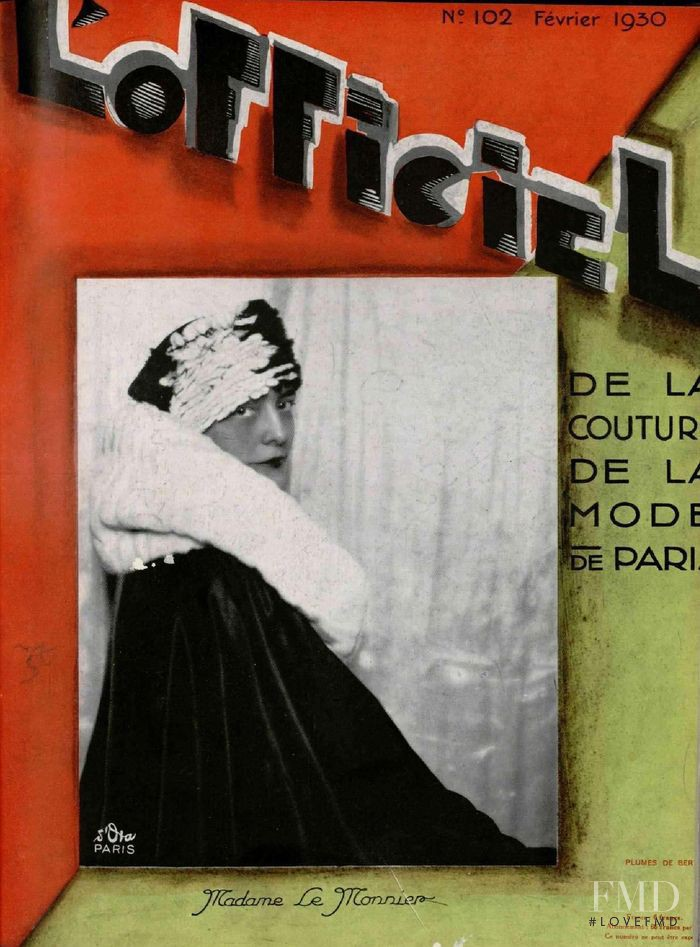 featured on the L\'Officiel France cover from February 1930