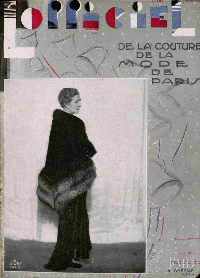 featured on the L\'Officiel France cover from January 1930