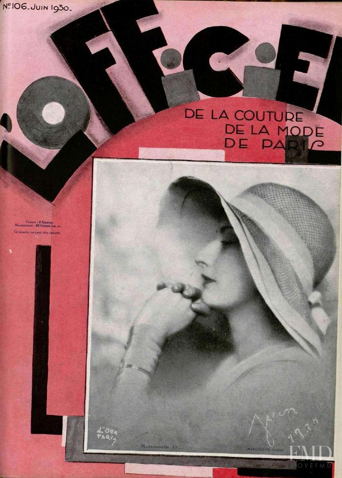 featured on the L\'Officiel France cover from June 1930