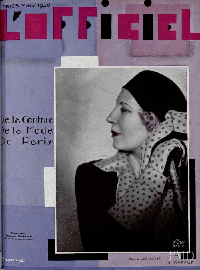 featured on the L\'Officiel France cover from March 1930