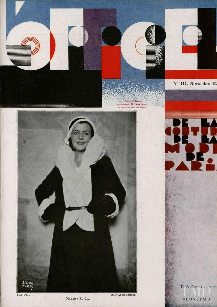 featured on the L\'Officiel France cover from November 1930