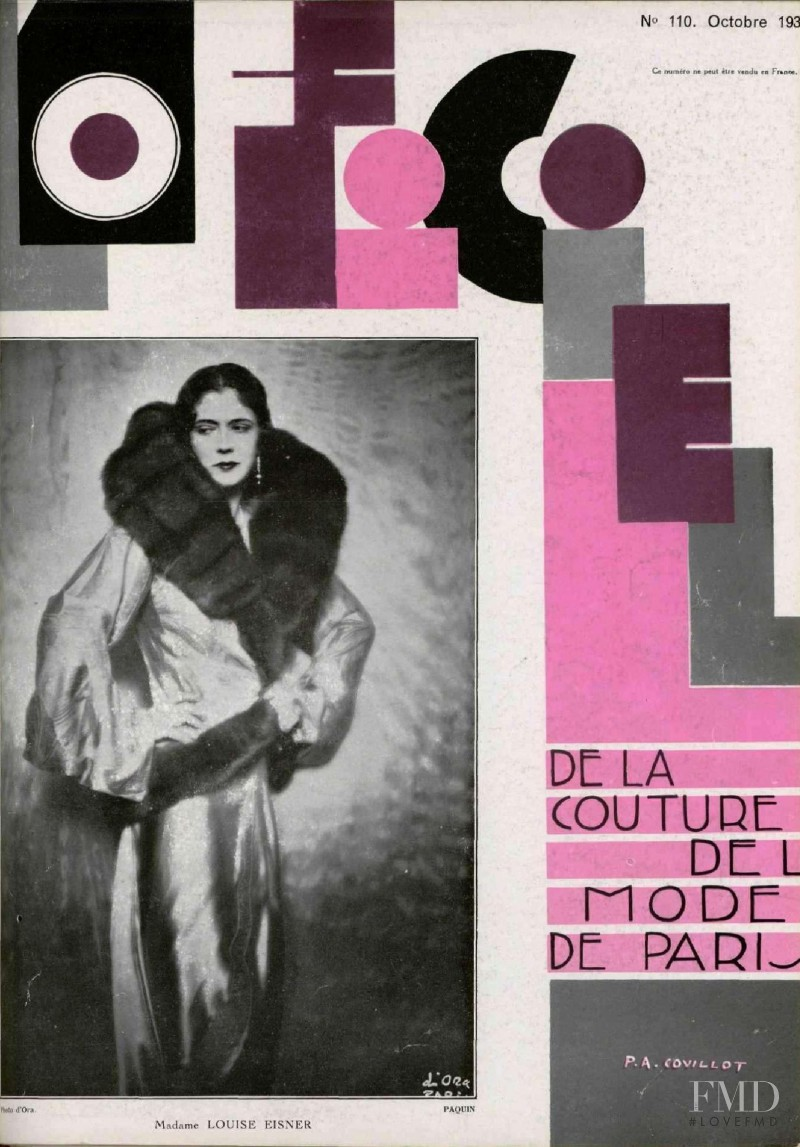 featured on the L\'Officiel France cover from October 1930