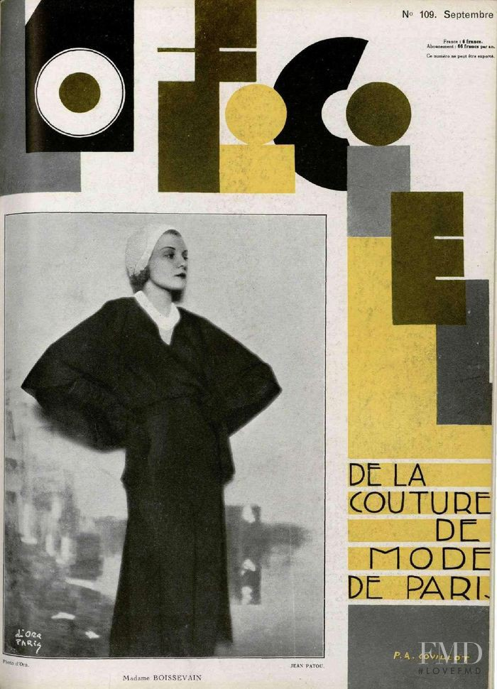 featured on the L\'Officiel France cover from September 1930