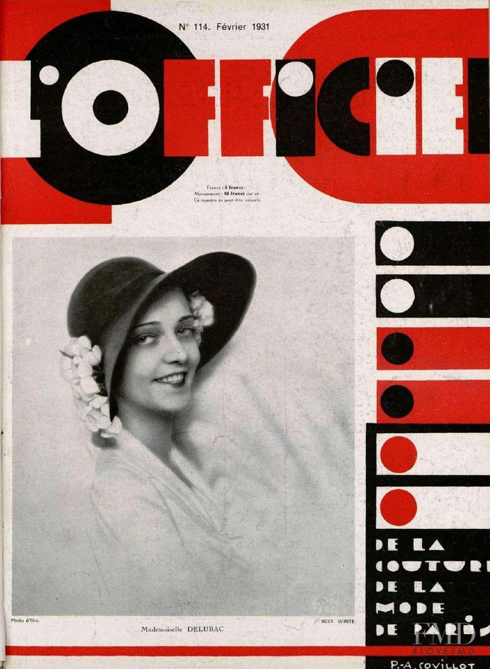 featured on the L\'Officiel France cover from February 1931
