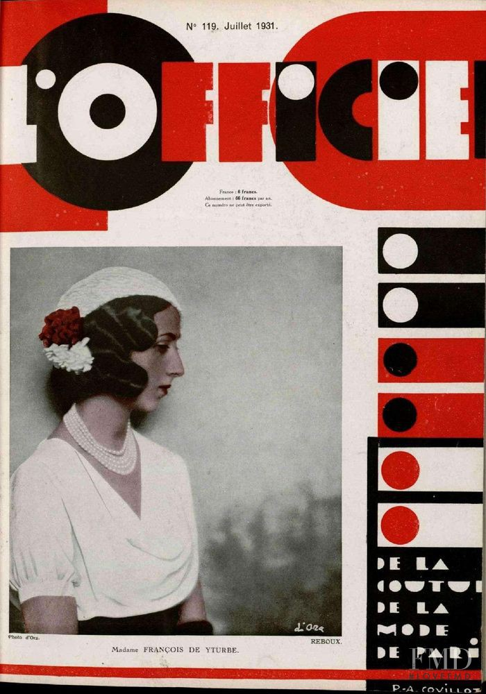 featured on the L\'Officiel France cover from July 1931