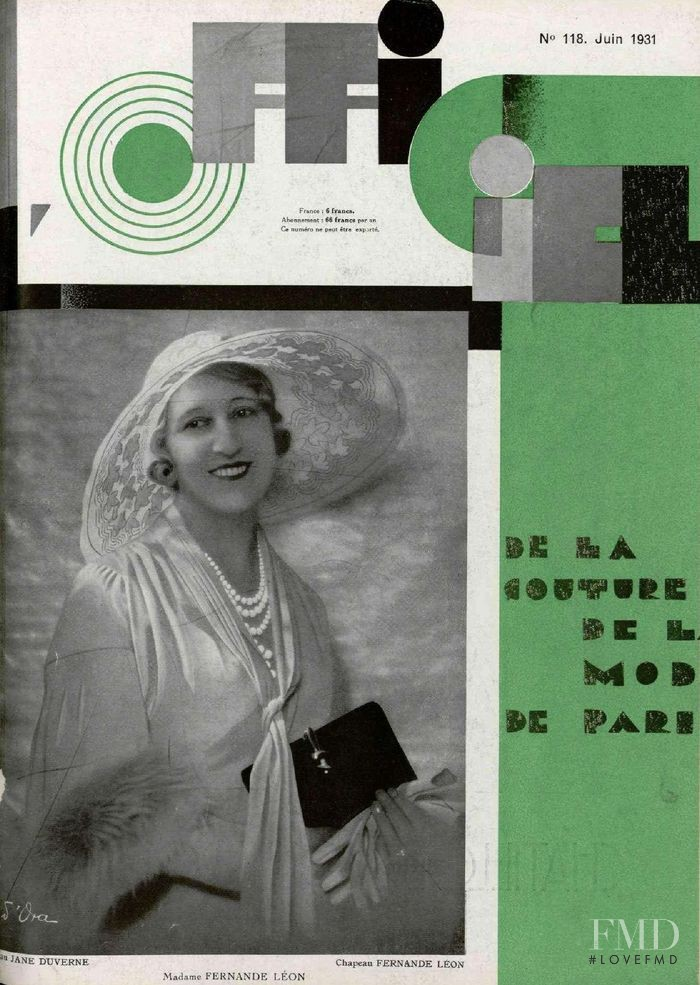 featured on the L\'Officiel France cover from June 1931