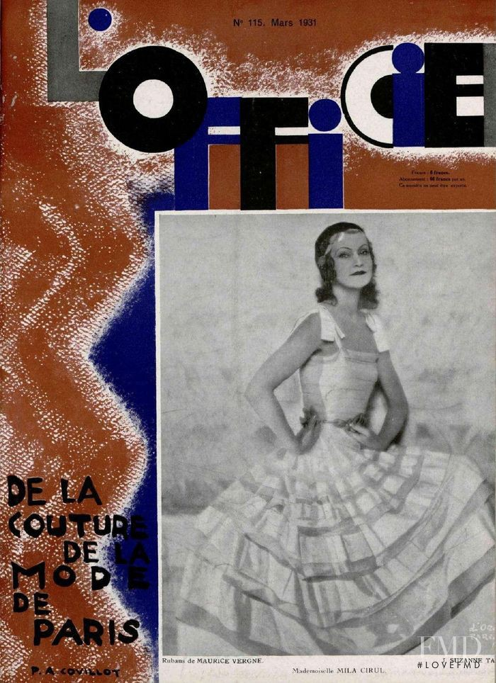 featured on the L\'Officiel France cover from March 1931