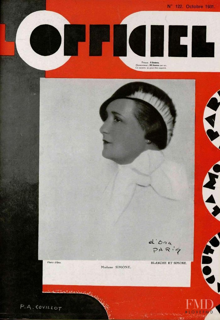 featured on the L\'Officiel France cover from October 1931