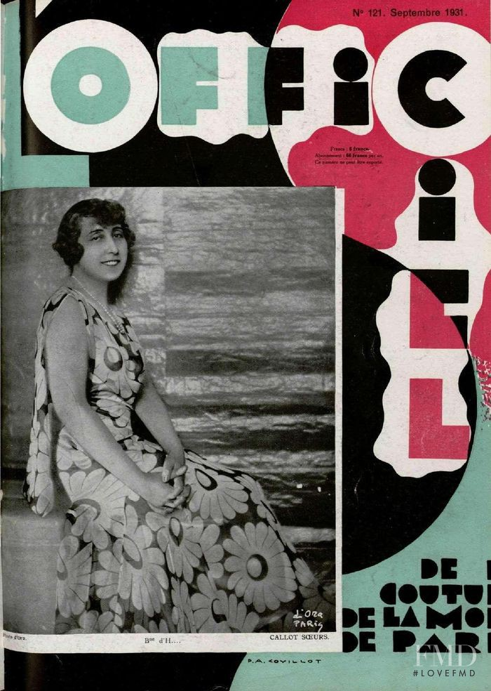 featured on the L\'Officiel France cover from September 1931