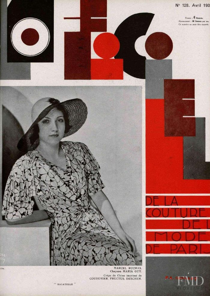 featured on the L\'Officiel France cover from April 1932