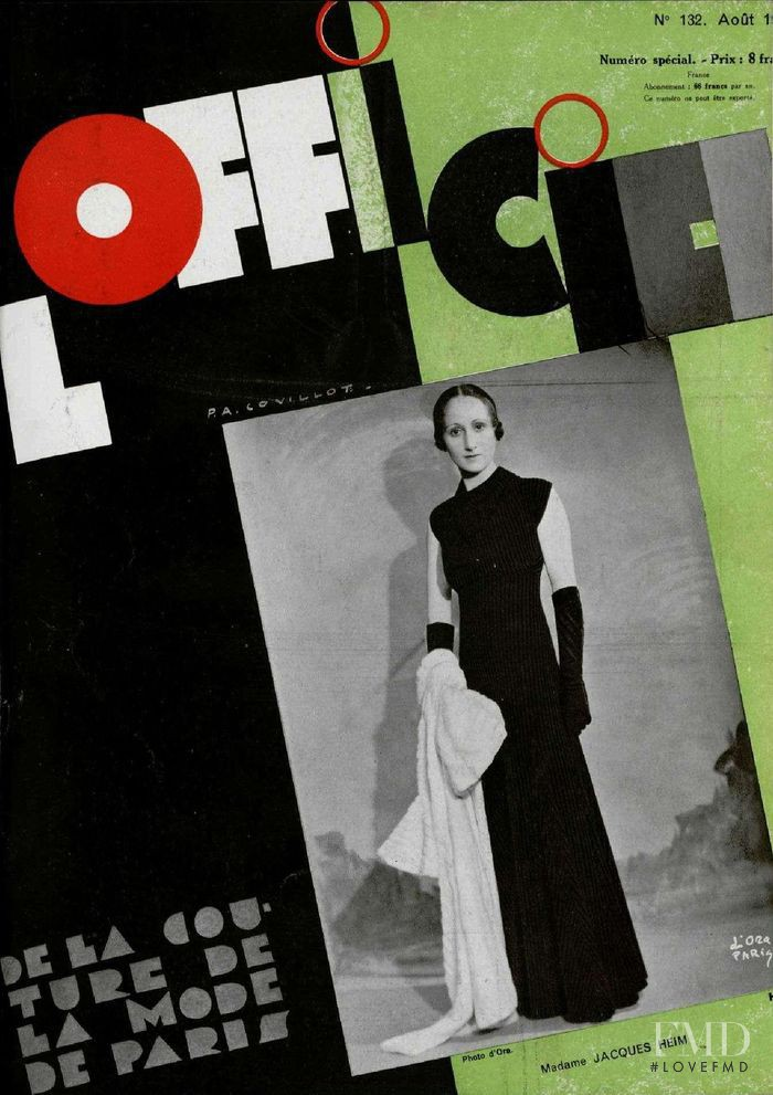 featured on the L\'Officiel France cover from August 1932