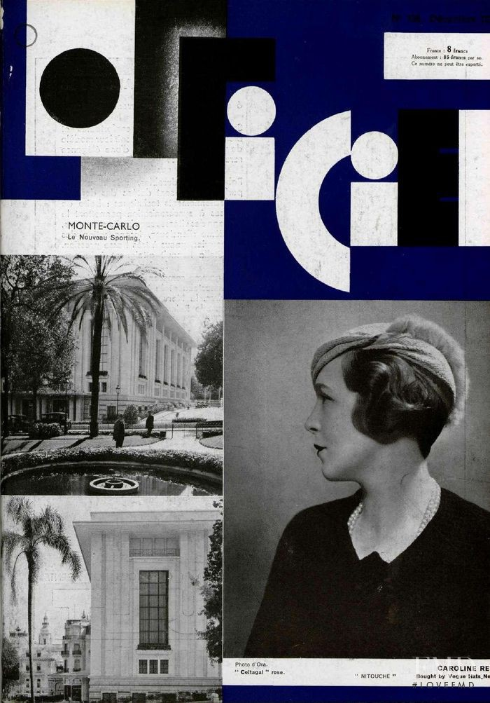 featured on the L\'Officiel France cover from December 1932