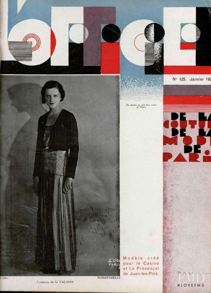 featured on the L\'Officiel France cover from January 1932