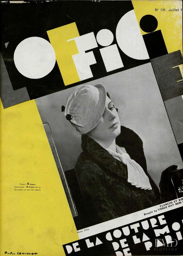 featured on the L\'Officiel France cover from July 1932