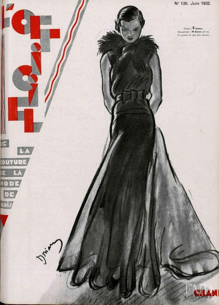 featured on the L\'Officiel France cover from June 1932