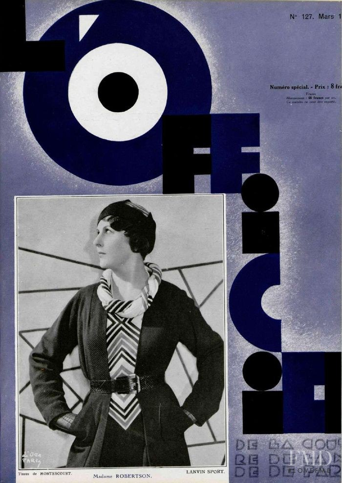 featured on the L\'Officiel France cover from March 1932