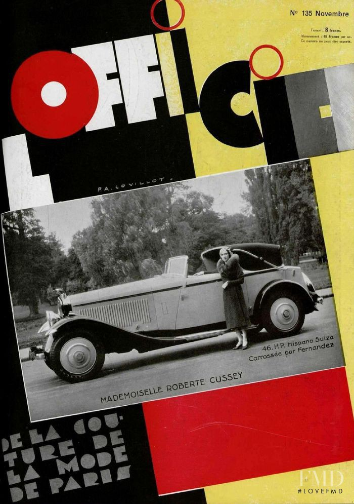 featured on the L\'Officiel France cover from November 1932
