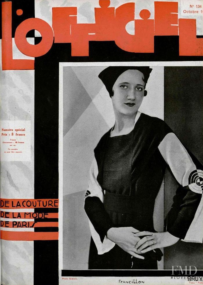 featured on the L\'Officiel France cover from October 1932