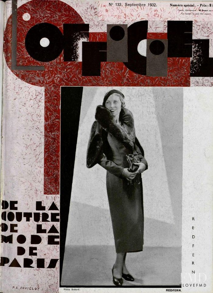 featured on the L\'Officiel France cover from September 1932