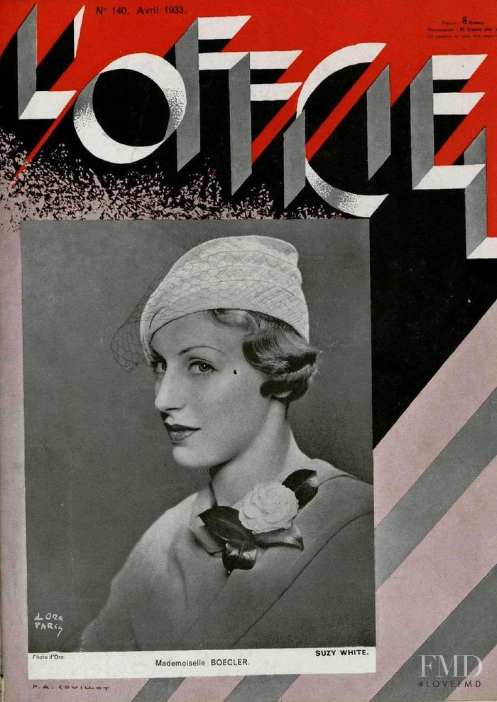 featured on the L\'Officiel France cover from April 1933