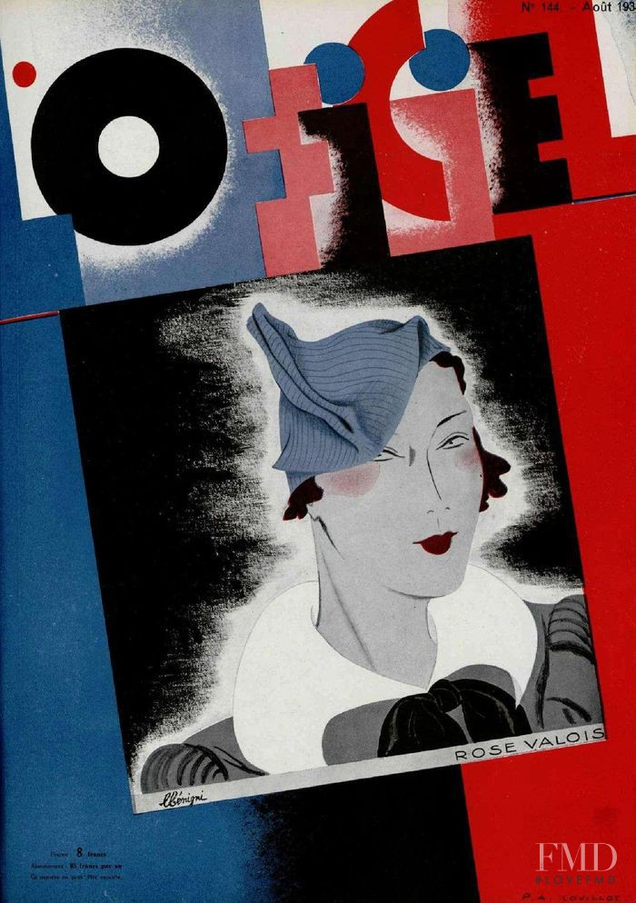 featured on the L\'Officiel France cover from August 1933