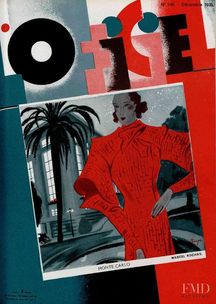 featured on the L\'Officiel France cover from December 1933