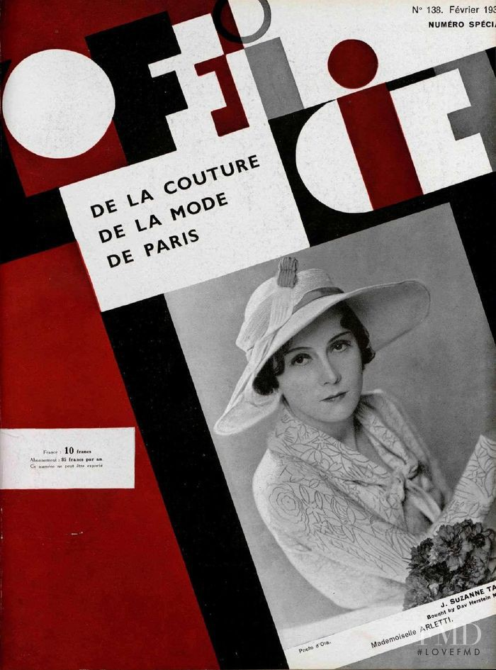 featured on the L\'Officiel France cover from February 1933