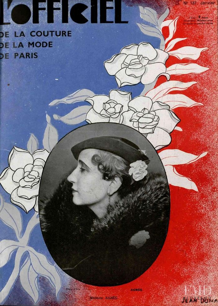 featured on the L\'Officiel France cover from January 1933