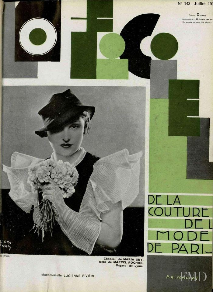 featured on the L\'Officiel France cover from July 1933