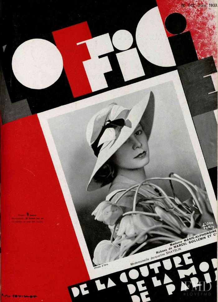 featured on the L\'Officiel France cover from June 1933