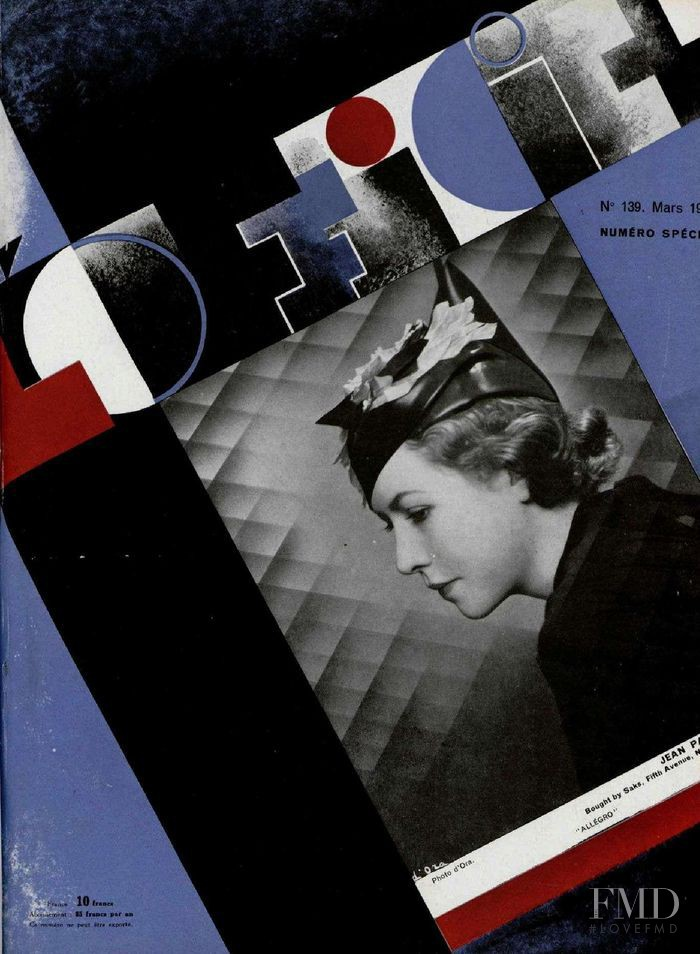 featured on the L\'Officiel France cover from March 1933