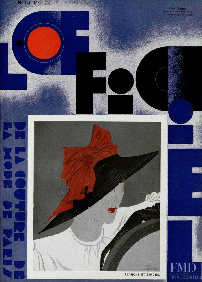 featured on the L\'Officiel France cover from May 1933