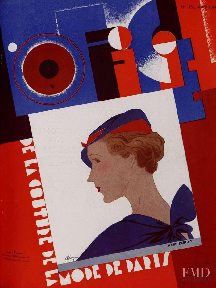 featured on the L\'Officiel France cover from April 1934