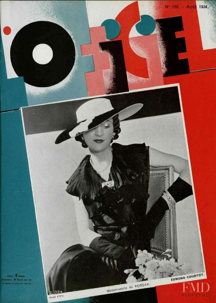 featured on the L\'Officiel France cover from August 1934