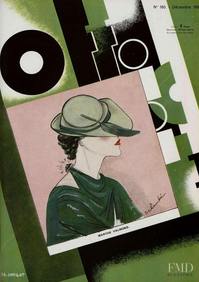 featured on the L\'Officiel France cover from December 1934