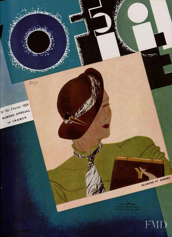 featured on the L\'Officiel France cover from February 1934