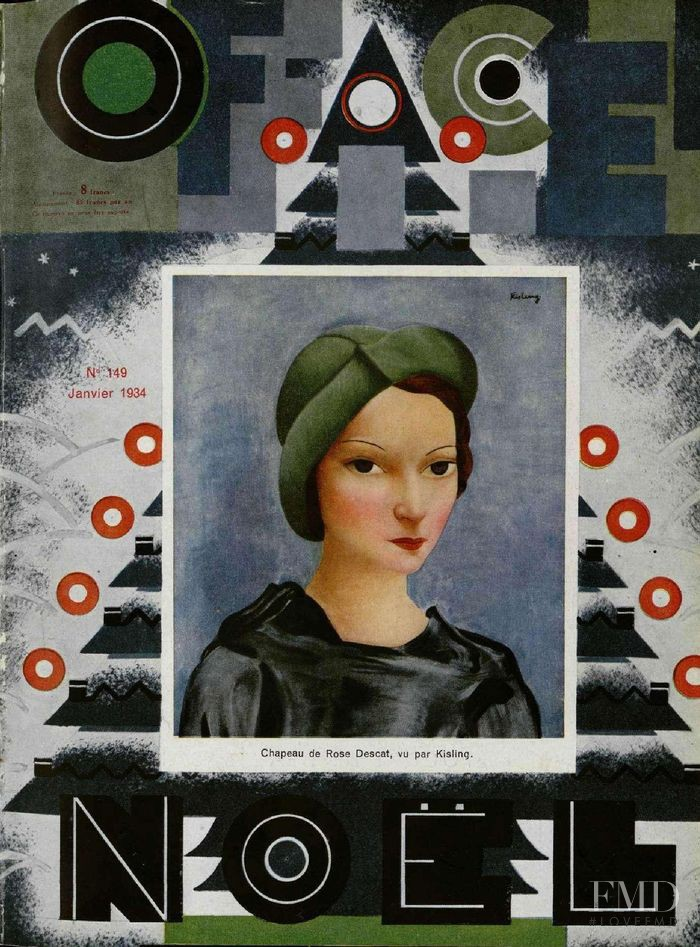 featured on the L\'Officiel France cover from January 1934