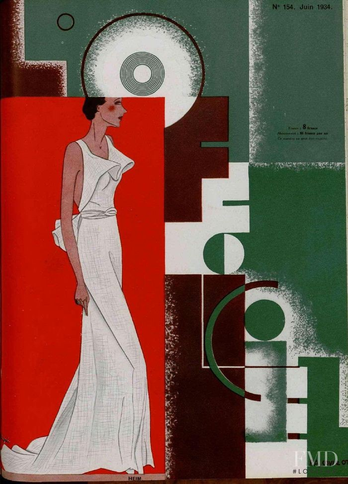 featured on the L\'Officiel France cover from June 1934