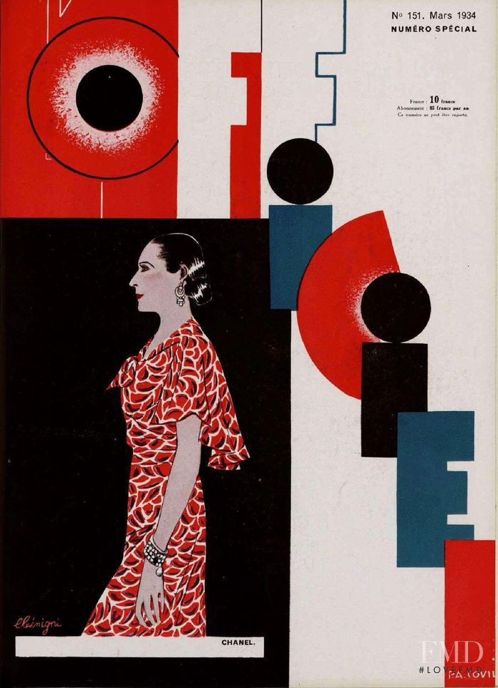 featured on the L\'Officiel France cover from March 1934