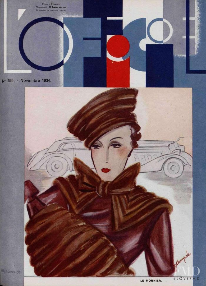 featured on the L\'Officiel France cover from November 1934