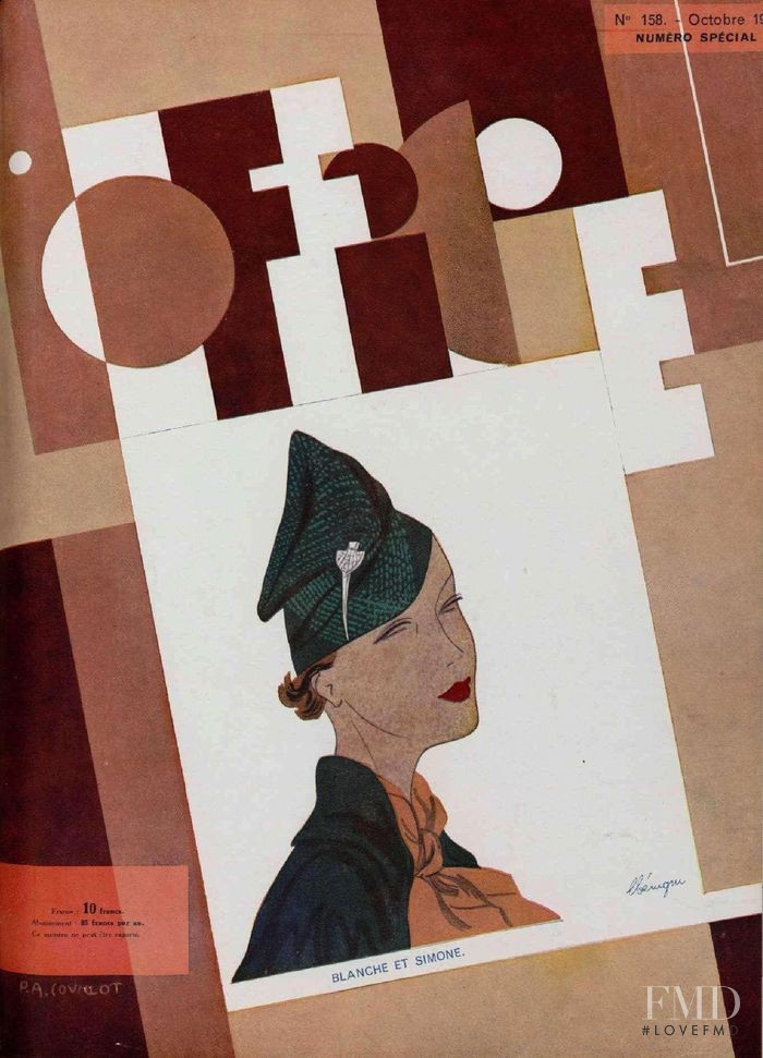 featured on the L\'Officiel France cover from October 1934