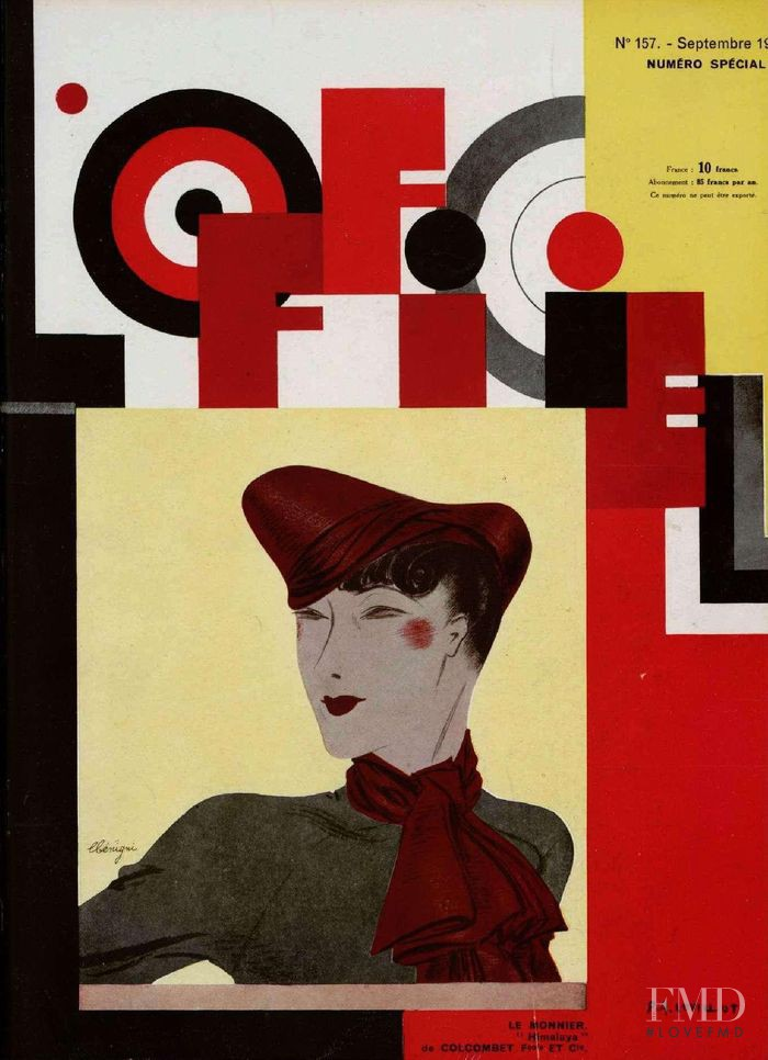 featured on the L\'Officiel France cover from September 1934