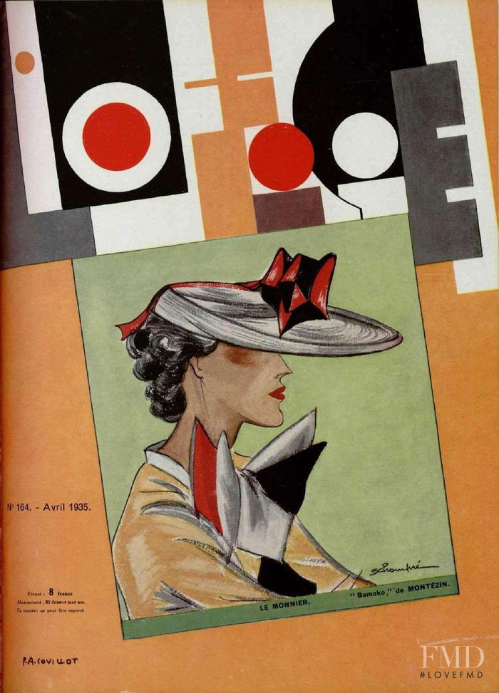featured on the L\'Officiel France cover from April 1935