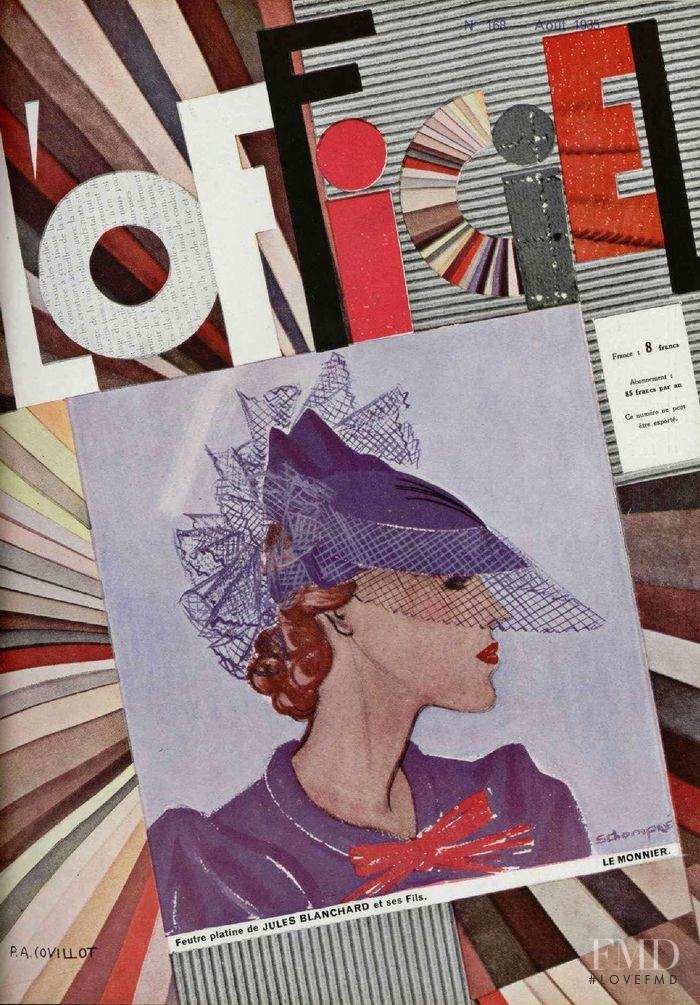 featured on the L\'Officiel France cover from August 1935