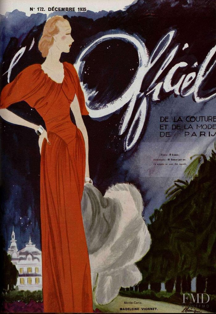 featured on the L\'Officiel France cover from December 1935