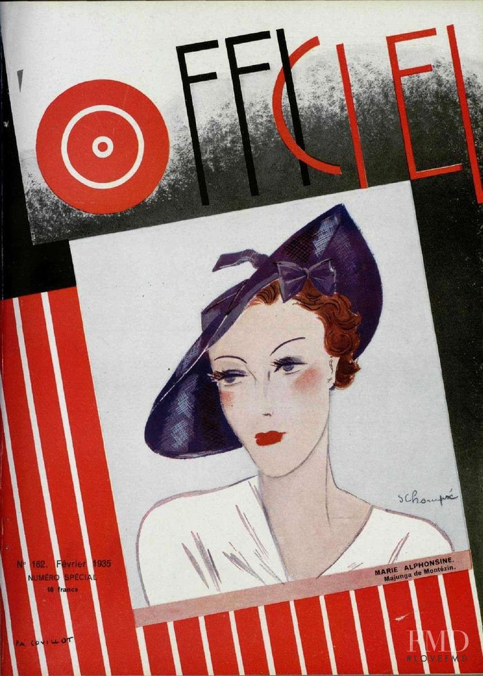 featured on the L\'Officiel France cover from February 1935