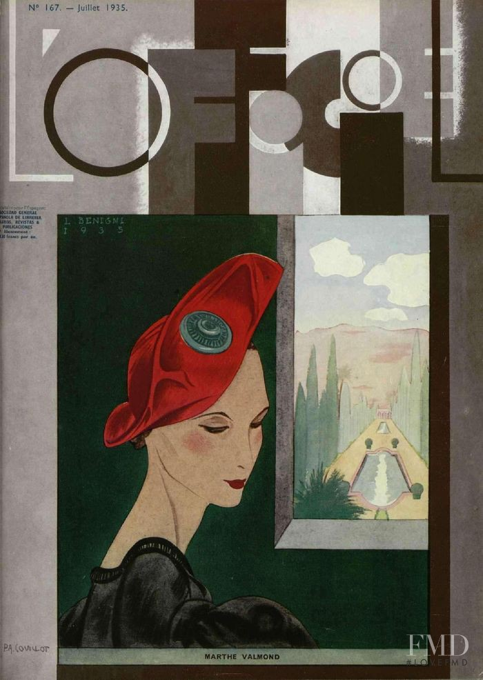 featured on the L\'Officiel France cover from July 1935