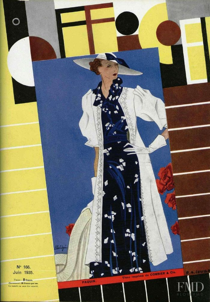 featured on the L\'Officiel France cover from June 1935