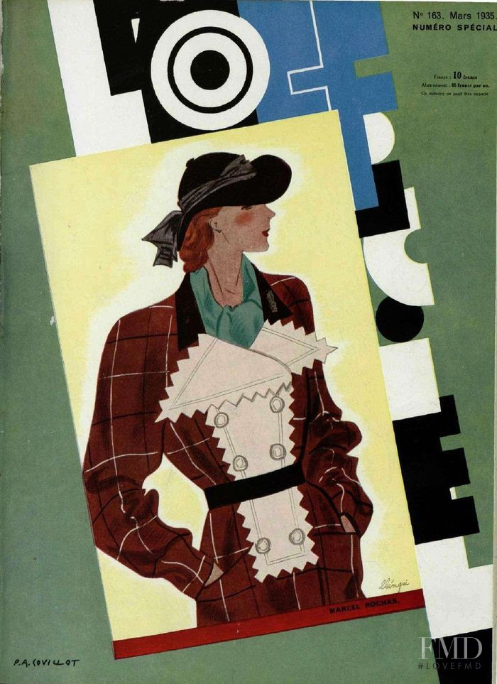 featured on the L\'Officiel France cover from March 1935